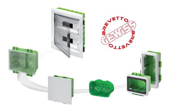 Sistemi da incasso green wall di gewiss per impianti in for Interruttori touch