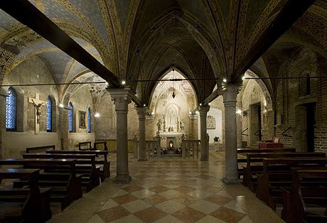 Treviso chiesa di santa lucia bpt e domino led u cfirmano l