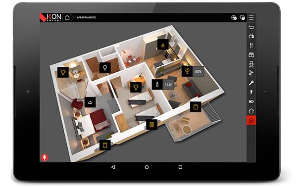 Touch con interfaccia di supervisione Ikon server