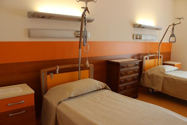 Le camere sono progettate per agevolare le attività di assistenza