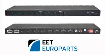 EET Europarts annuncia il nuovo splitter VIVOLINK HDMI 2×8